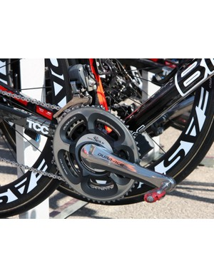 Like many pros in the modern era, George Hincapie (BMC) both races and trains with his power meter
