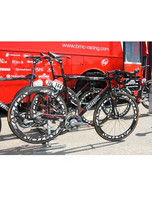 George Hincapie (BMC) is racing in his 16th Tour de France aboard this BMC Teammachine SLR01