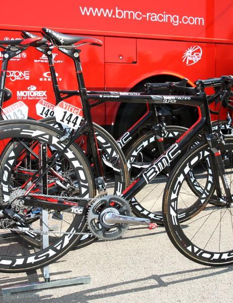 George Hincapie (BMC) is racing in his 16th Tour de France aboard this BMC Teammachine SLR01