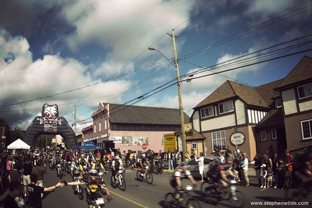 Stage 1 start in Cumberland on Vancouver Island