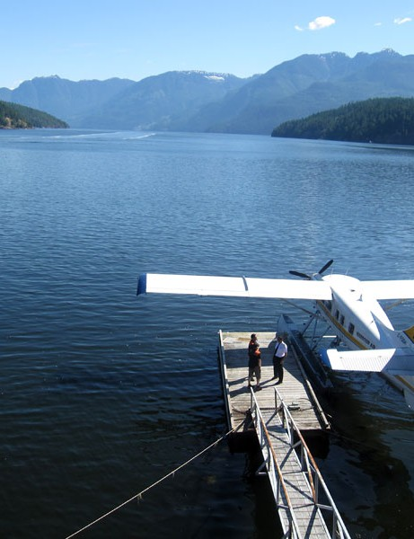 Most transfers happened via bus or BC Ferries. Some racers got lucky, and got to take a sea plane ride