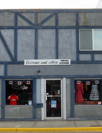 Quirky store front on in Campbell River on Vancouver Island