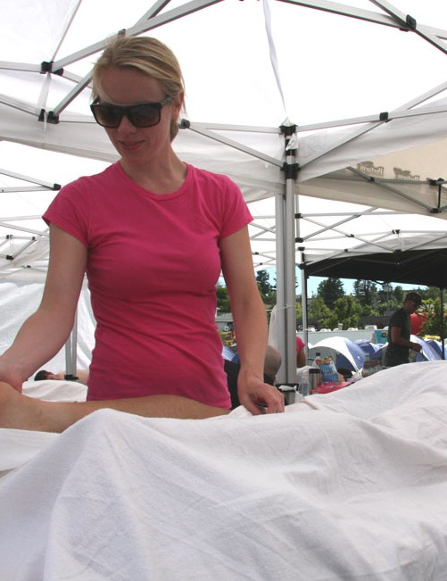 Daily massage was available on site at every base camp