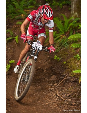 Clif Bar rider Brady Kappius rips up some B.C. singletrack. He and partner Mitch Hoke placed fourth in the open duo category