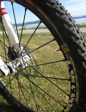 The author's wheelset was a pair of 2012 Mavic Crossmax STs mated to tubeless 2.2 WTB Mutano tires