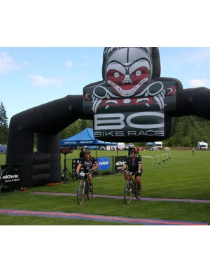 The finish line, complete with chip timing and a giant inflatable arch gave the event a feeling of grandeur
