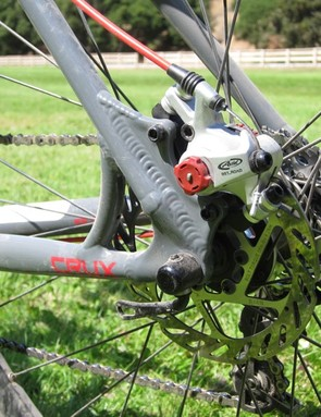 We were disappointed not to see a direct post mount rear brake mount