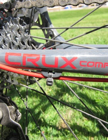 The Crux Comp Disc uses zip-tie tabs for the full housing