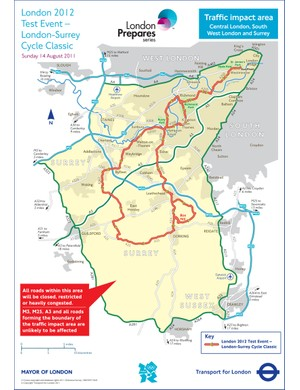 London-Surrey Cycle Classic traffic impact