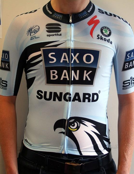 Saxo Bank-Sungard 2011 summer race jersey