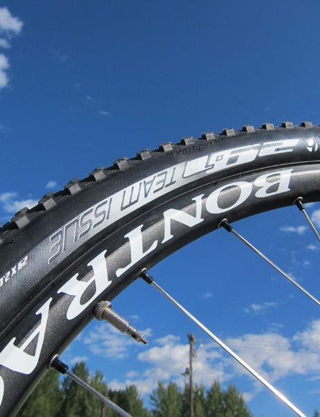 Team officials told us that Bontrager will revise their naming scheme for the tire range, making the numbers more meaningful in terms of what sort of conditions they're intended for as compared to the somewhat arbitrary system currently in place