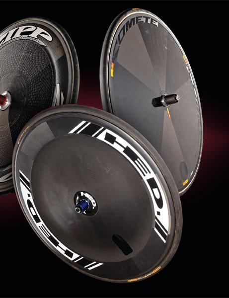 Zipp Sub 9, HED Stinger FR Disc & Mavic Comete