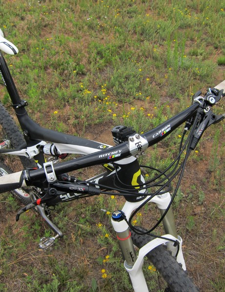 Scott have wisely elected to spec wider bars than on most companies' cross-country race bikes