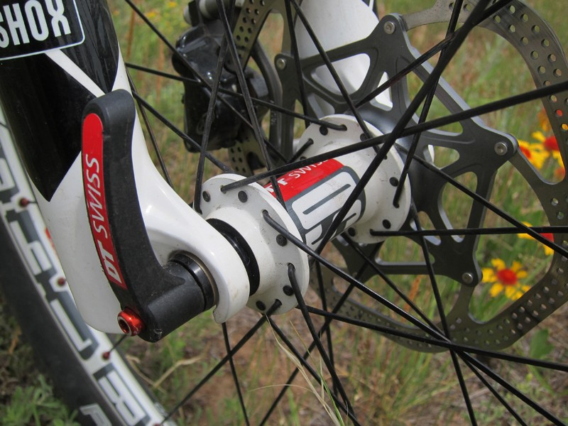 All 2012 Scott Sparks stick with quick-release fork tips instead of the increasingly popular - and notably stiffer - through-axle setups