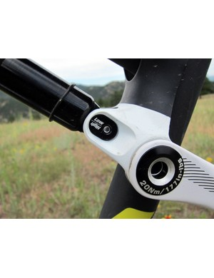 New for 2012 Sparks is user-convertible geometry. Even in the high/steep setting, the head tube is slacker than what was previously considered standard for short-travel cross-country bikes for more stable and predictable handling at speed