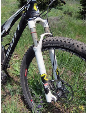 Just as with the 26in Sparks, the Scott Spark 29 RC features a RockShox fork, but with quick-release dropouts instead of stouter through-axle ones