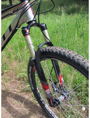 The RockShox Reba forks on our alloy Spark testers provided excellent bump control on a wide range of terrain. We only wish they were equipped with through-axle dropouts, too