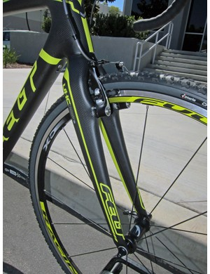 The Felt F2X comes with the company's own all-carbon 'cross fork