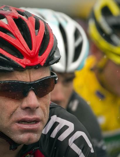 Cadel Evans during stage 16