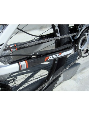 The 2012 Felt Edict (and carbon Virtue) are fitted with molded chain stay and down tube guards