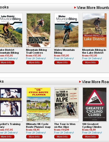 BikeRadar book store open for business