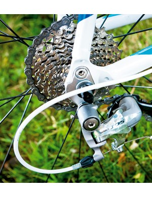 Smooth Shimano shifting from decent 105 groupset will take the hard wok out of hills