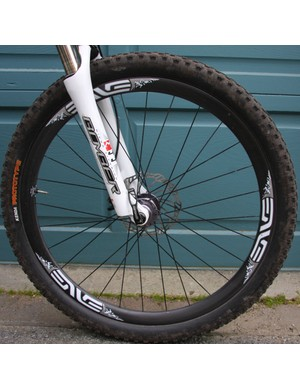 Yes, carbon wheels can take a B.C. beating. At least these Enve Twenty6 XC's were up to the task