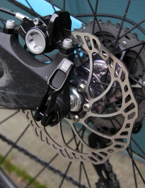 Magura's new MT6 rear brakes slowed things down when necessary