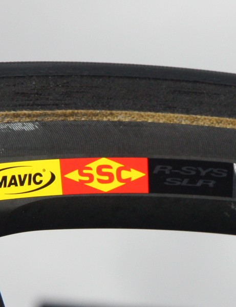 Mavic's textured Exalith brake surface also uses a special hardening treatment that supposedly wears longer than bare aluminum and provides superior braking, especially in the wet.