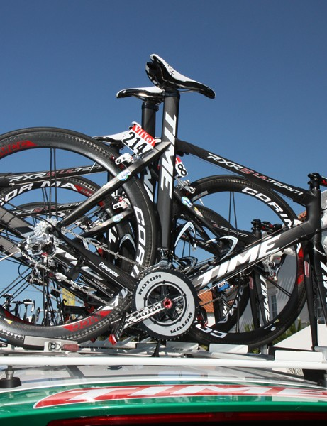 Saur-Sojasun is using Time's striking RXRS Ulteam frame for road stages in this year's Tour de France.
