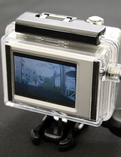 The BacPac LCD screen attaches to the rear of your GoPro camera