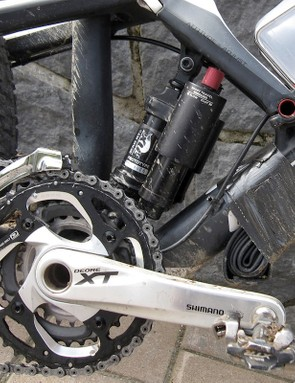 Rear shock and the Jekyll frame were designed together, so that the simple single pivot suspension system can provide two distinct types of performance