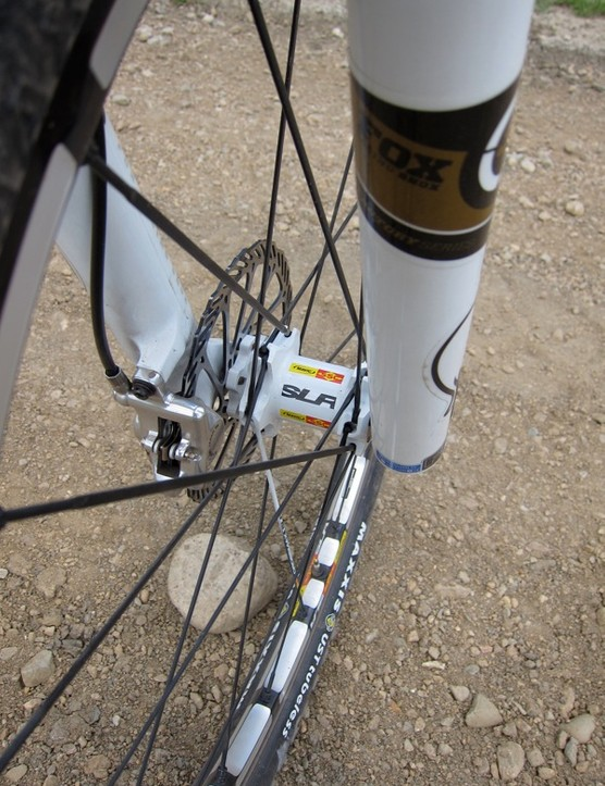 Mavic's SLR front hub converts from 9mm QR to a 15mm through axle
