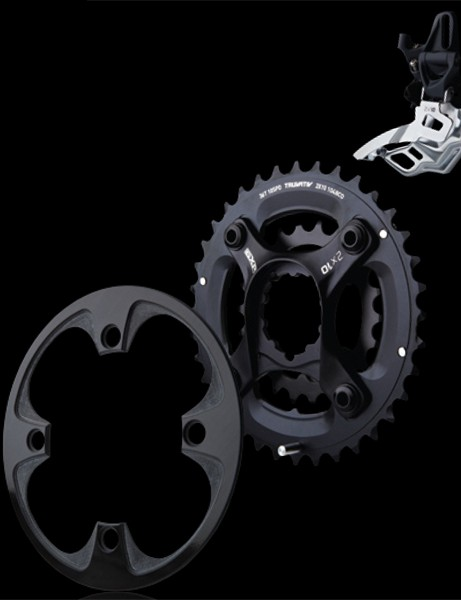 SRAM have new 2x10 chainrings and front derailleurs for 2012