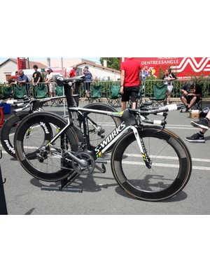 HTC-Highroad are using these Specialized S-Works Shiv aero bikes for time trials at this year's Tour de France
