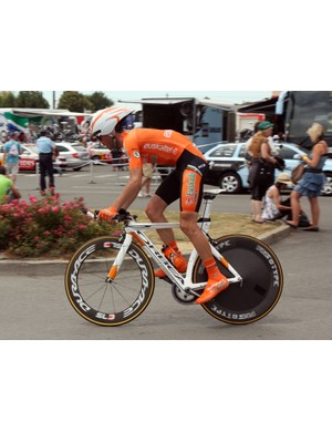 Euskaltel-Euskadi are riding the angular Orbea Ordu for time trials in this year's Tour de France