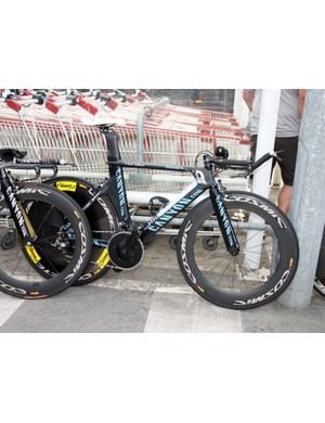 Just like on the road, Philippe Gilbert (Omega Pharma-Lotto) has two custom painted time trial bikes for this year's Tour de France