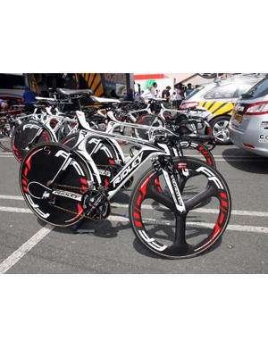 Vacansoleil-DCM are using Ridley's striking Dean time trial bikes
