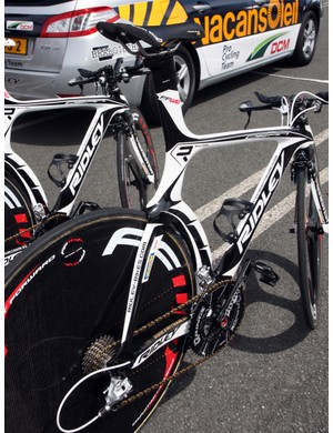 Vacansoleil-DCM's Ridley Dean time trial machines are definitely among the most unusual shapes in this year's Tour de France