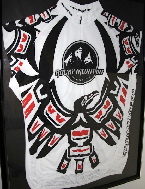 The unique native character of the Vancouver area is illustrated in this classic Rocky Mountain jersey