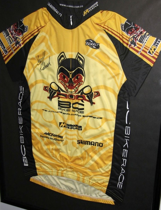 The more modern look of the BC Bike Race jersey. In 2011, Rocky Mountain was one of the popular event's primary sponsors