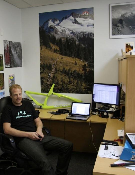 Marketing man Peter Vallance hard at work