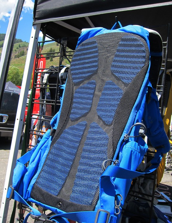 Osprey include a molded and ventilated molded foam back panel on the new Zealot freeride pack