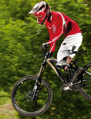 Trek's Scratch 8 is an all-rounder, equally good at throwing down freeride moves or nailing a technical downhill
