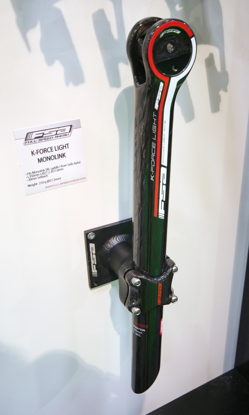 FSA's new K-Force Light Monolink post is designed to work with Selle Italia's SLR saddle