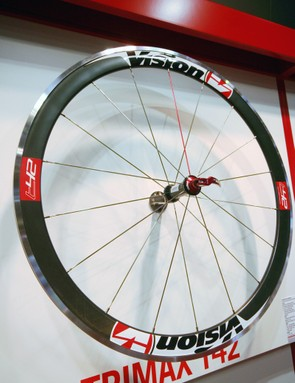 New for 2012, the T42 is a 42mm-deep aero clincher weighing in at 1,700g a pair