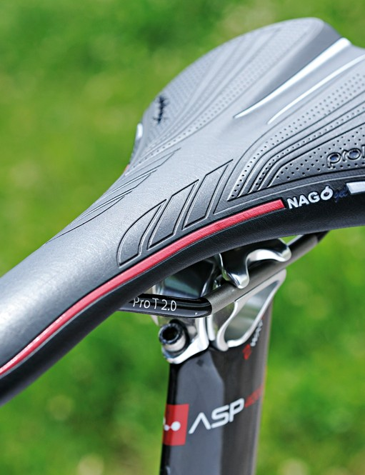 It looks like a shortcut to rear-end rack and ruin, but the Prologo saddle is surprisingly comfortable