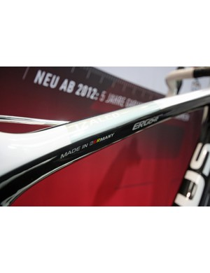The top tube narrows from the front to a flatter ovalised shape at the seat tube junction