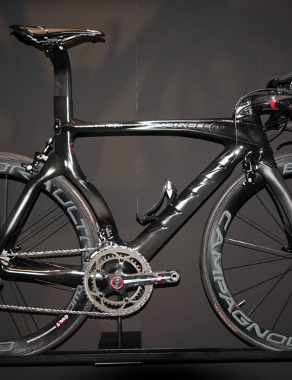 Slick all-black Graal time trial bike from Pinarello