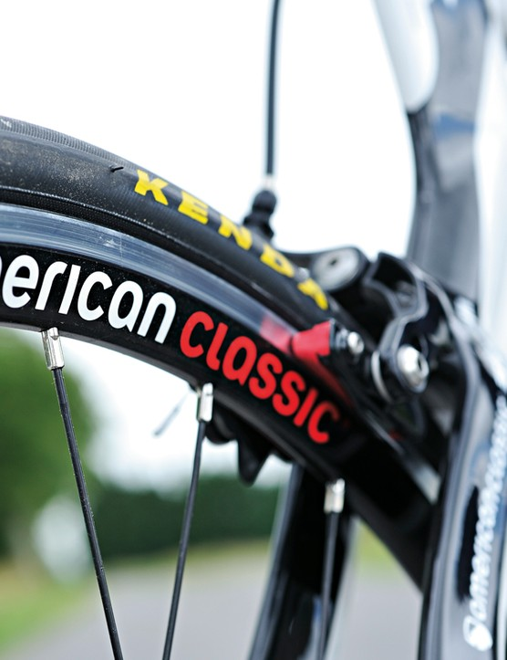 American Classic Victory wheels are superlight for the money, but prone to flexing when pushed